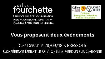 Silver Fourchette et Colibris organisent une projection-débat le 28/09 à Bressols et une conférence-débat et 01/09 à Verdun-sur-Garonne @SilvRFourchette  @Smartrezo