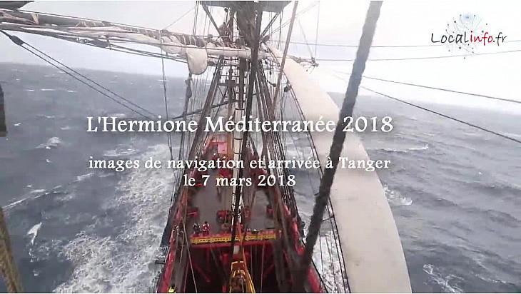 L'Hermione Méditerranée 2018 : après 10 jours de navigation par gros temps arrivée à Tanger @LHERMIONE_SHIP @Localinfo_fr
